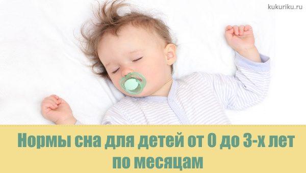 Нормы сна для детей от 0 до 3-х лет по месяцам