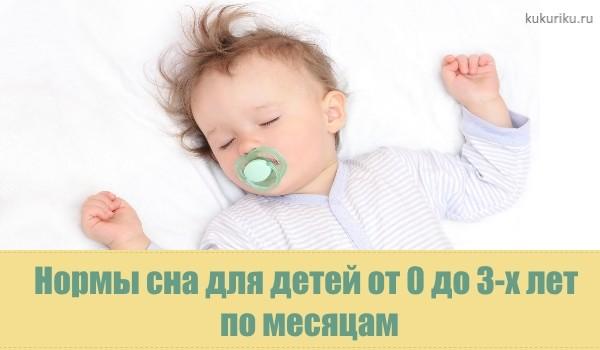 нормы сна до 3х месяцев