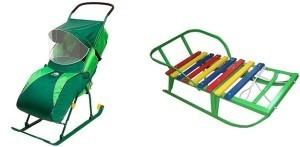 санки-коляска или обычные санки