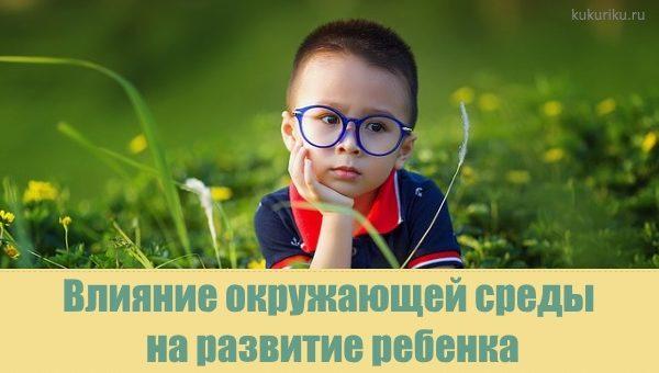 Влияние окружающей среды на развитие личности ребенка