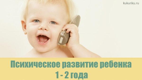 Психическое развитие ребенка 1-2 года