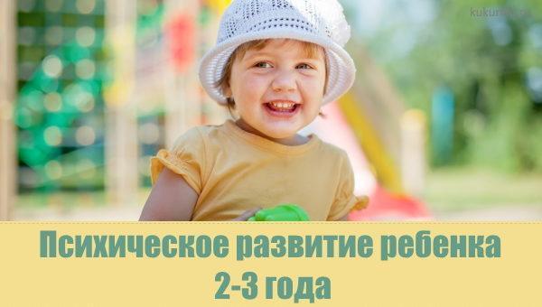 Психическое развитие ребенка в 2-3 года